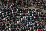 Egyptian protesters perform the Friday noon prayer, during a protest marking the second anniversary of the Egyptian revolution at Tahrir square, in Cairo, Egypt, 25 January 2013. Source: ANDRE PAIN - EPA via Washington Post