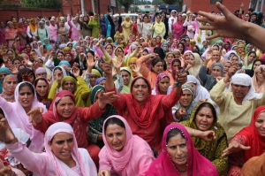 Women protest a rape in the Shopian district of Jammu and Kashmir in 2009. Source: Women under Siege (Bilal Bahadur)