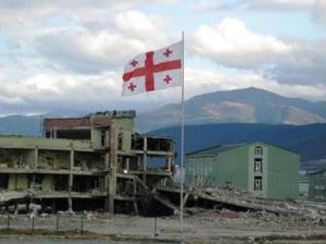 Source: World Affairs Journal.  The Remains of military base in Gori, Georgia following the conflict in August 2008.