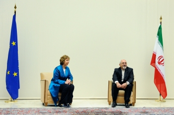 EU High Representative Catherine Ashton and Iran Foreign Minister, Javad Zarif. Source: flickr.com